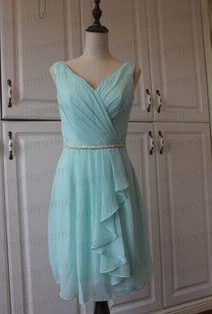 Mint bridesmaid dressshort wedding party von loveinprom auf Etsy