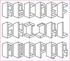 Drawing Letters in TWO Point Perspective | Simple Image Gallery