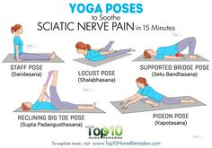 Yoga Poses to Soothe Sciatic Nerve Pain in 15 Minutes | Top 10 ...