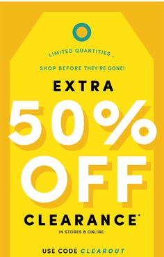 Extra 50% off clearance ends tonight! - poggiluna@gmail.com - Gmail
