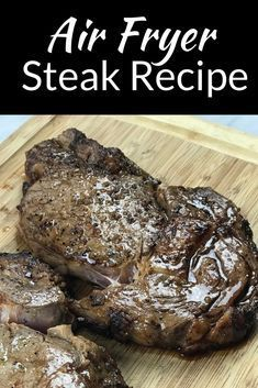 Air Fryer Steak Recipe i Used a ribeye steak but you can use any cut with this marinade. It's a really easy dinner that would be great with a baked potato.