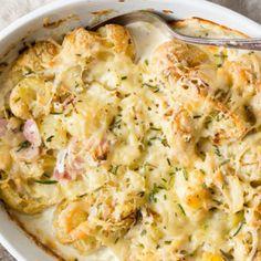 молодой картофель запеченный в духовке со сливками