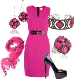 """""""Pink & Black"""" by leslie-giaudrone-berends on Polyvore"""