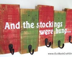 Christmas Stocking Holder with Distressed by OutBackCraftShack