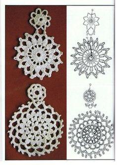 Earrings crochet diagram