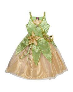 Princess Tiana Fancy Dress Costume