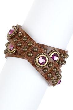 Jeweled Double Wrap Bracelet Very steampunkish!