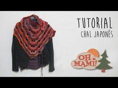 Chal Japonés tejido a crochet ( CROCHET SHAWL) - YouTube