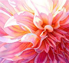 """""""dahlia"""" watercolor. doesn't hurt that the artist is my aunt."""