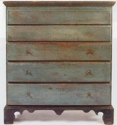 .Appears to be a mule chest (blanket chest).