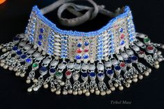 KUCHI CHOKER NECKLACE  Ornate Vintage Tribal Jewelry by TribalMuse