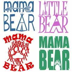 Bears Mama and Little Svg Cuttable Designs