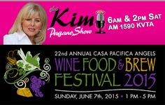 DON'T MISS the #cpwinefoodbrew interview @KimPaganoShow tomorrow May 16th, 7am on 1590 KVTA! And at 8am on website: http://kimpaganoshow.com/