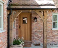 Porch Uk, House Front Porch, Cottage Porch, Front Porch Design, Front Door Canopy, Porch Canopy, Porch Extension, House Extension Design, Border Oak