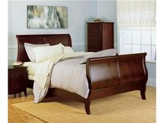 Shop For Modus Sleigh Bed, SB4557, And Other Bedroom Beds At Simpson  Furniture Company In Cedar Falls And Coralville, IA. Crafted From Eastern  Ash Solids ...