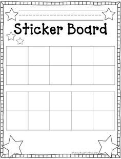 Fluttering Through First Grade: Stick to Good Behavior Linky Freebie 10 frames sticker chart