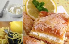 Lemon Cream Cheese Bars - 5 Star Recipe | The WHOot Lemon Dessert Recipes, Apple Cake Recipes, No Cook Desserts, Lemon Recipes, Delicious Desserts, Cheesecake Recipes, Lemon Cheesecake, Cheesecake Cookies, Strawberry Recipes
