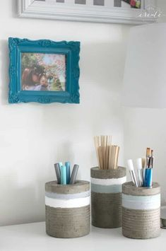 DIY Concrete Vases [from tin cans]