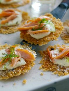 Parmesan Crisp Canapes recipe from Dairy Diary