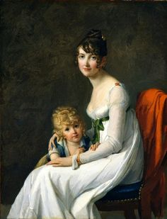 Not a photo but love the casual modern pose! Madame Philippe Panon Desbassayns de Richemont (Jeanne Eglé Mourgue, and Her Son, Eugène Artist: Marie Guillelmine Benoist (French, Paris Paris). Oil on canvas. The Metropolitan Museum of Art. Metropolitan Museum, Women Artist, Jeanne, Jane Austen, Mother And Child, Madame, Heritage Image, Beautiful Paintings, Art History