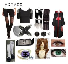 """""""Naruto (Oc)"""" by ironically-a-strider21 ❤ liked on Polyvore featuring H&M, Boohoo, Charlotte Russe and Madara"""
