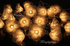 20 White Tone Flower Fairy String Lights Hanging Wedding Gift Party Patio,Bedroom fairy lights,Home Decor Hanging Lights, String Lights, Fairy Lights Wedding, Punta Cana Wedding, Sparkle Party, Baby Party, Decoration, Wedding Gifts, Wedding Planning