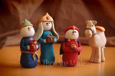polymer clay nativity - Google Search