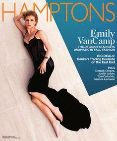 Emily VanCamp on the cover of Hamptons Magazine