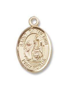 "Small Childrens Jewelry, Girls or Boys Gold Filled St. Catherine of Siena Pendant with 16"" Gold Filled 16"" Lite Curb Chain Hail Mary Gifts,http://www.amazon.com/dp/B008ZUR9TM/ref=cm_sw_r_pi_dp_k95Nsb079K4EX7PS"