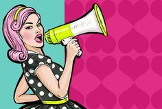 Pop Art Girl With Megaphone. Woman With Loudspeaker. Girl Announcing Discount Or Sale. Stock Illustration - Illustration of power, discount: 56563313 Bd Pop Art, Pop Art Girl, Power Girl, Power Pop, 1 Clipart, Modern Feminism, Influencer Marketing, Stock Foto, Art Plastique
