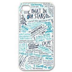 CTSLR Design Funny The Fault In Our Stars Hard Case Cover Skin for Apple iPhone 4/4s- 1 Pack - Black/White - 8