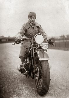 Vintage Photographs of Women and Motorcycles