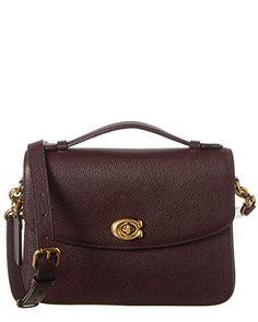Coach Cassie Leather Crossbody Handbag Oxblood Burgundy Red Bag NEW