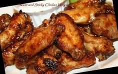Sweet & Sticky Chicken Wings (Actifry) Recipe - Recipezazz.com