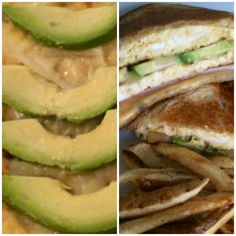 Avocado & Jack Omelette in a grilled cheese sandwhich! Thought of it myself!