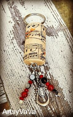 Artsy VaVa: Wine Cork Keychains DIY do this for a wine cork from a special date