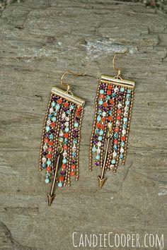 DIY Jewelry: DIY Fringe Earrings  Candie Cooper