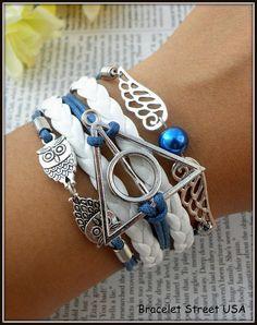 Harry Potter Bracelet Deathly Hallows Bracelet Charm Bracelet Friendship Bracelet multilayer Braclet Made in USA Seller Item #BST-156