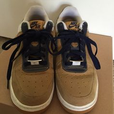 Nike Air Force ones Hardly worn! Size says 6.5 but runs big and fits a size 7.5 Nike Shoes Sneakers