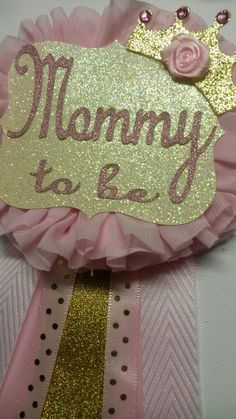 Pink Gold Mommy to Be Corsage elegant by fourDOLLYSboutique