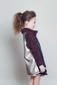 Metallic/knit jacket