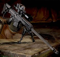 Barrett Model 98B (aka 98 Bravo) .338 Lapua Magnum long range bolt-action sniper rifle