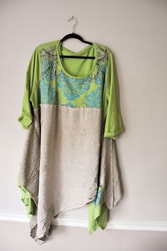 Upcycled Eco Festival Fashion Lagenlook layers by WiseSewcialTies
