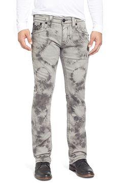 Rock Revival 'Jack Alternative' Straight Leg Tie Dye Jeans (Light Grey)