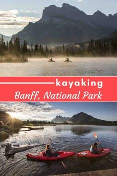 Most people explore Banff National Park on foot, but by the water is equally as stunning. From along the shores of Vermillion Lakes to whitewater adventures, there's no shortage of stunning lakes to dip your paddle into. Canada National Parks, Banff National Park, San Juan Island Camping, Kayaking, Canoeing, Canoe Club, Alberta Travel, Fairmont Chateau Lake Louise, Amigurumi