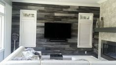 San Diego Painting Contractor gray plank industrial farmhouse - Interior Painting
