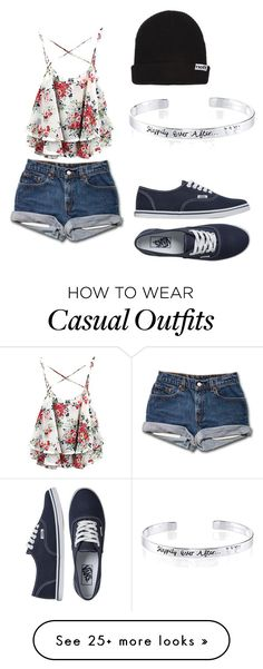 """Casual"" by alohadarlene on Polyvore featuring Neff, Disney and Vans"