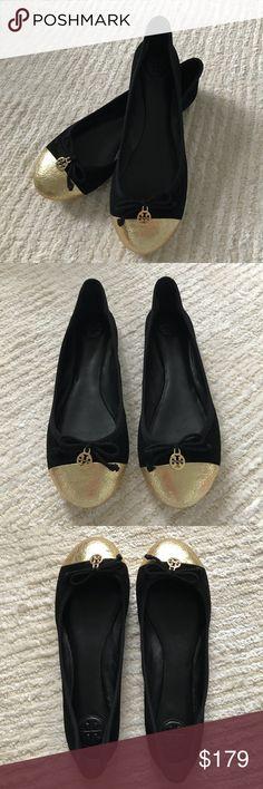 NWOT Tory Burch Chelsea cap toe ballerina flats