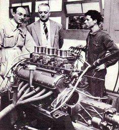 Enzo Ferrari at Maranello circa 1953