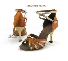 0d70d95f7 HenryG™ Women Latin Salsa Ballroom Dance Shoes, High Golden Heel. HGB-23493